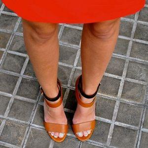 Zara black and brown heels